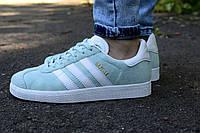 Кроссовки Adidas Gazelle женские мятные