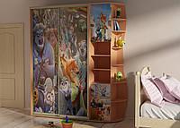 Детский шкаф купе с фотопечатью