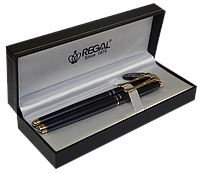 Комплект ручок (П+Р) в подарунковому футлярі L, жемчужно-чорний