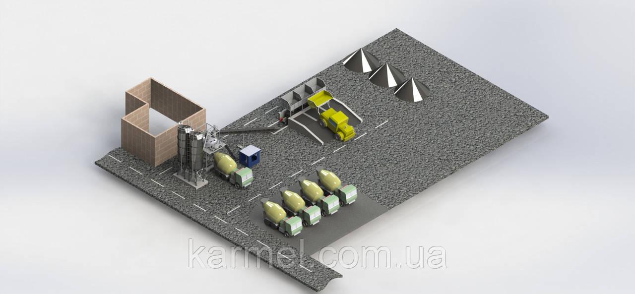 Бетоносмесительная установка БСУ-40К от производителя KARMEL - KARMEL в Хмельницком