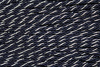 Канат декоративный 6мм (100м) т.синий+серебро, фото 1