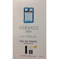 Туалетная вода с феромонами Versace Man Eau Fraiche 3х15 мл.