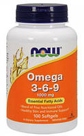 Omega 3-6-9 1000 мг NOW, 100 капсул