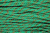 Канат декоративный 6мм (100м) зеленый (трава) + золото , фото 1