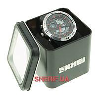 Часы Skmei 1110 Steel-Red BOX 1110BOXSTRD