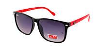 Солнечные очки женские с красными дужками Ray Ban