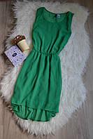 Шифоновое платье с каскадной юбкой H&M