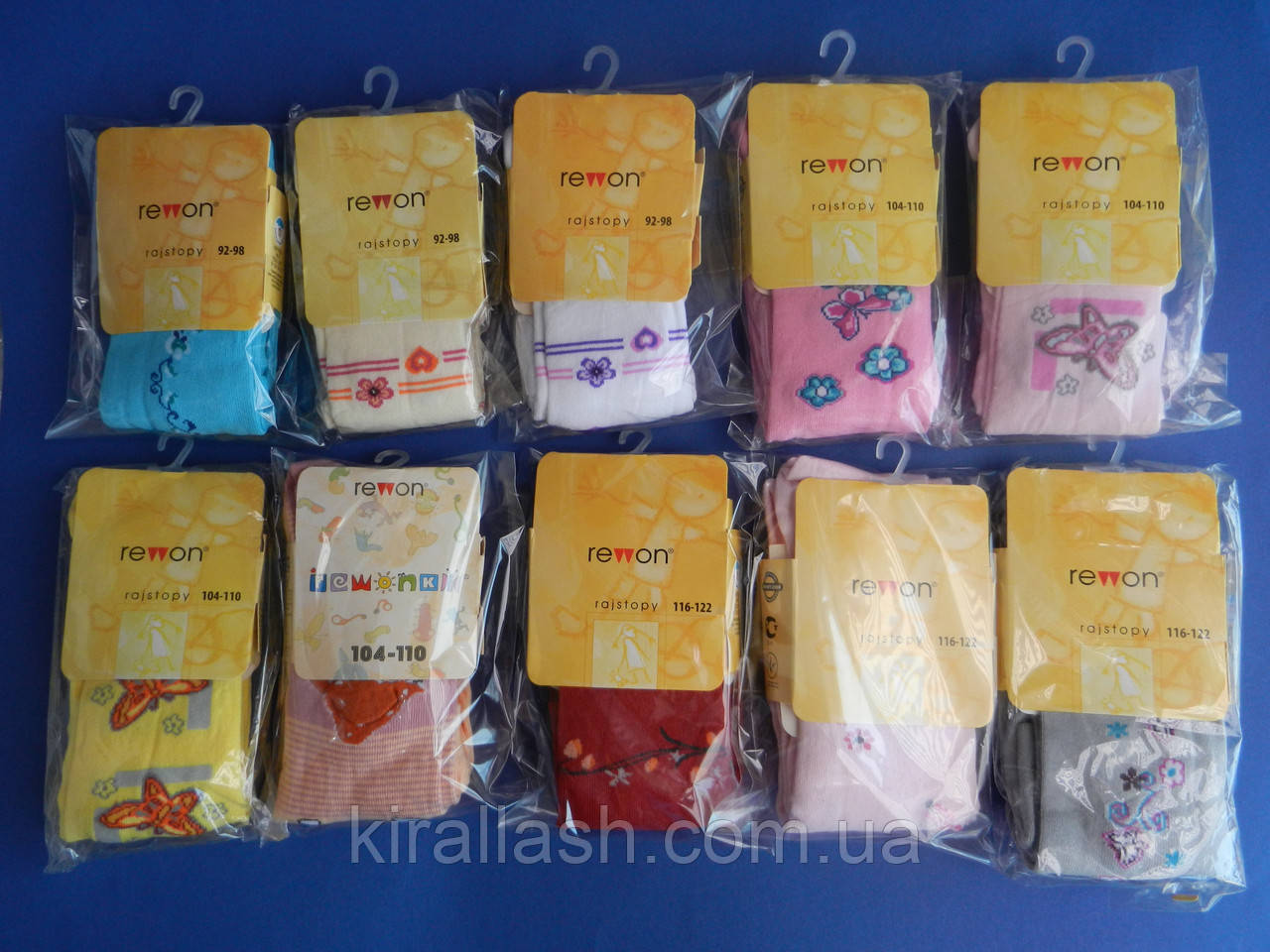 """Колготки (92-98) для девочек """"Rewon"""" разные цвета и узоры с компьютерным рисунком Польша"""