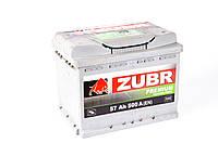 Аккумулятор ZUBR Premium - 57A +правый 500 А