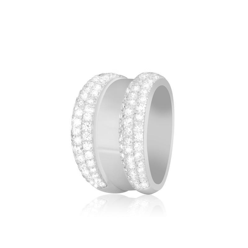 "Серебряное кольцо копия ""Chopard"""