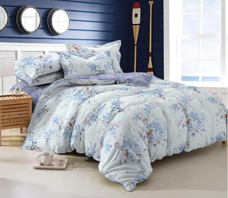 Двуспальный комплект постельного белья евро 200*220 сатин (7812) TM KRISPOL Украина