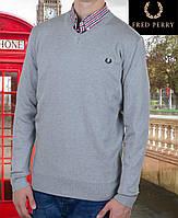 Свитер мужской Fred Perry-114 светлосерый