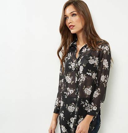 Цветочная шифоновая блуза New Look, фото 2