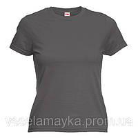 Женская футболка темно-серого цвета (Комфорт)