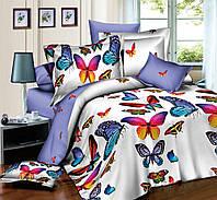Комплект постельного белья полуторный, поплин 100% хлопок. Постільна білизна. (арт.7750)