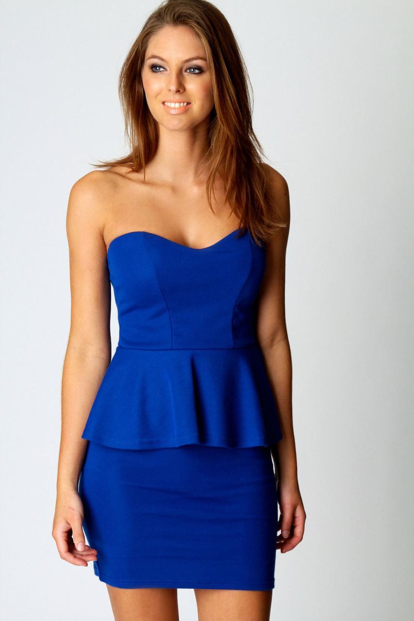 Новое платье бюстье с баской Boohoo
