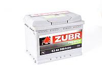 Аккумулятор ZUBR Premium - 63A +левый 550 А