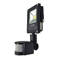 Светодиодный прожектор SLIM с датчиком движения, 10 Вт