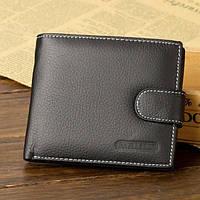Портмоне кошелек Baellerry D1303Bl_H кожаный черный, фото 1