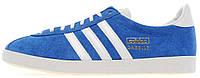 Мужские кроссовки Adidas Gazelle OG Blue/White (Адидас Газели) синие