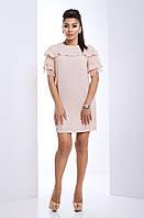 """Женское платье с гипюром """"Калифорния"""" (бежевый), фото 1"""