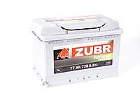 Аккумулятор ZUBR Premium - 77A +правый 720 А