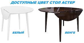 Стол обеденный Астер Раскладной Белый (Domini TM), фото 2