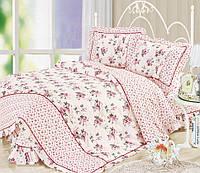 Комплект постельного белья полуторный, поплин 100% хлопок. Постільна білизна. (арт.7751)