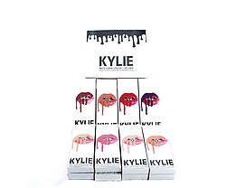 Жидкая матовая помада + карандаш для губ 2 в 1 Kylie 8611, фото 3