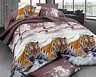 Комплект постельного белья полуторный, поплин 100% хлопок. Постільна білизна. (арт.7752)