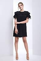 """Женское платье с гипюром """"Калифорния"""" (черный)"""