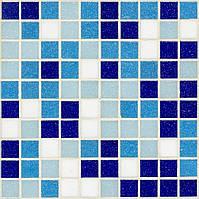 Мозаика для бассейна смесь голубого и синего D-Core DC-01