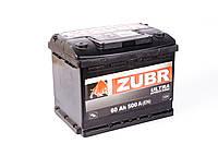 Аккумулятор ZUBR Ultra - 60A +левый 500 А