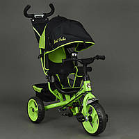 Велосипед 6570 3-х колёсный Best Trike (1) САЛАТОВЫЙ, переднее колесо 12 дюймов d=28см, заднее 10 дюймов d=24с