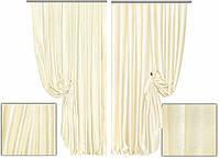 Ткань для штор блэкаут СОФТ слоновая кость (двухсторонняя)