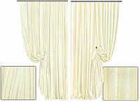 Ткань для штор блэкаут СОФТ молочный (двухсторонняя)