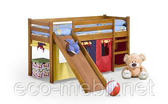 Ліжко Neo plus з гіркою та матрацом