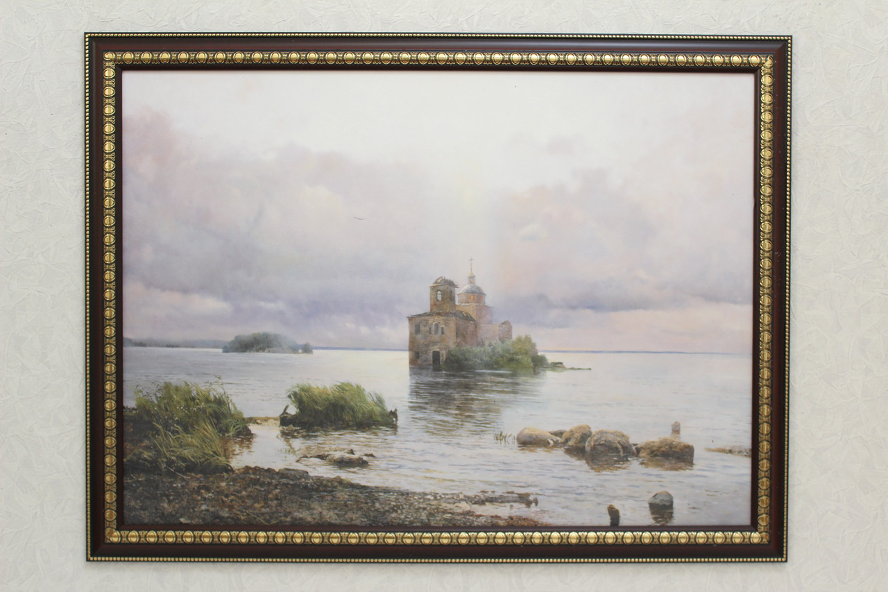 """Картина """"Церковь на островке """""""