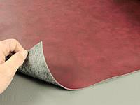 Автомобильный кожзам вишневый, шир. 1.5м