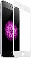 Скло iPhone 6/6S (0.3 мм, 4D, біле, повне,с олеофобним покриттям, та покриттям Silk Screen)
