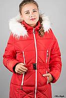 Пальто женское зимнее с мехом