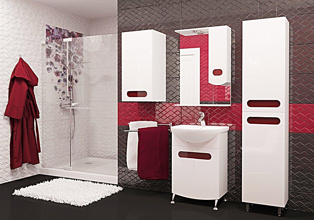 Мебель ванной аквамарин Полотенцесушитель водяной Ника Arc ЛД 60/30 бок 32