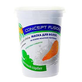 Маска для волосся подвійний об'єм «М'ятний сорбет» Concept 450 мл.