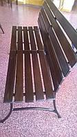 Кованная садовая скамейка