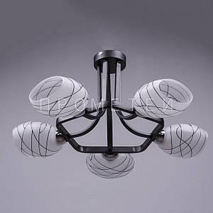 Люстра на 5 лампочек (темные). P3-36953/5/BK+BK