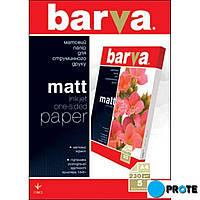 Фотобумага матовая А4 5 л. плотность 230 г/м² Barva IP-A230-T01