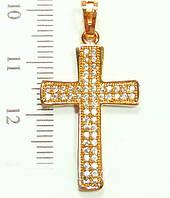 Крестик  xuping с цирконием длина 3.5см 333232