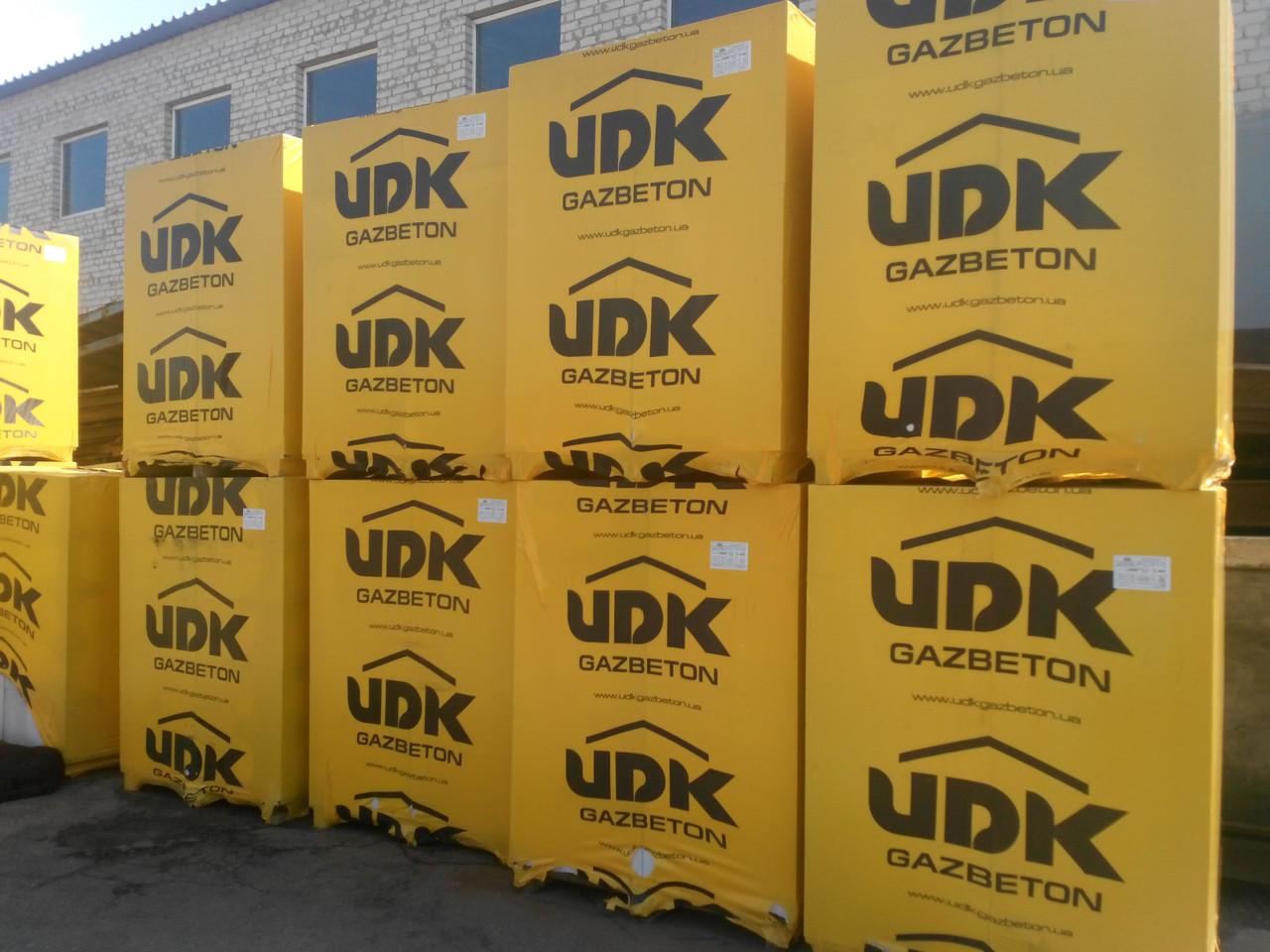 Газобетон, Газоблок, Газобетонные блоки стеновые UDK (ЮДК) D400 600х200х250