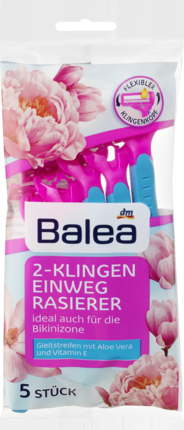 Станки одноразовые женские Balea Einwegrasierer 2-Klingen, 5 шт.