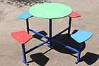 Столик для детской площадки,четырехместный., фото 3